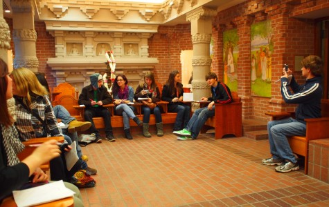 English classes tour Nationality Rooms