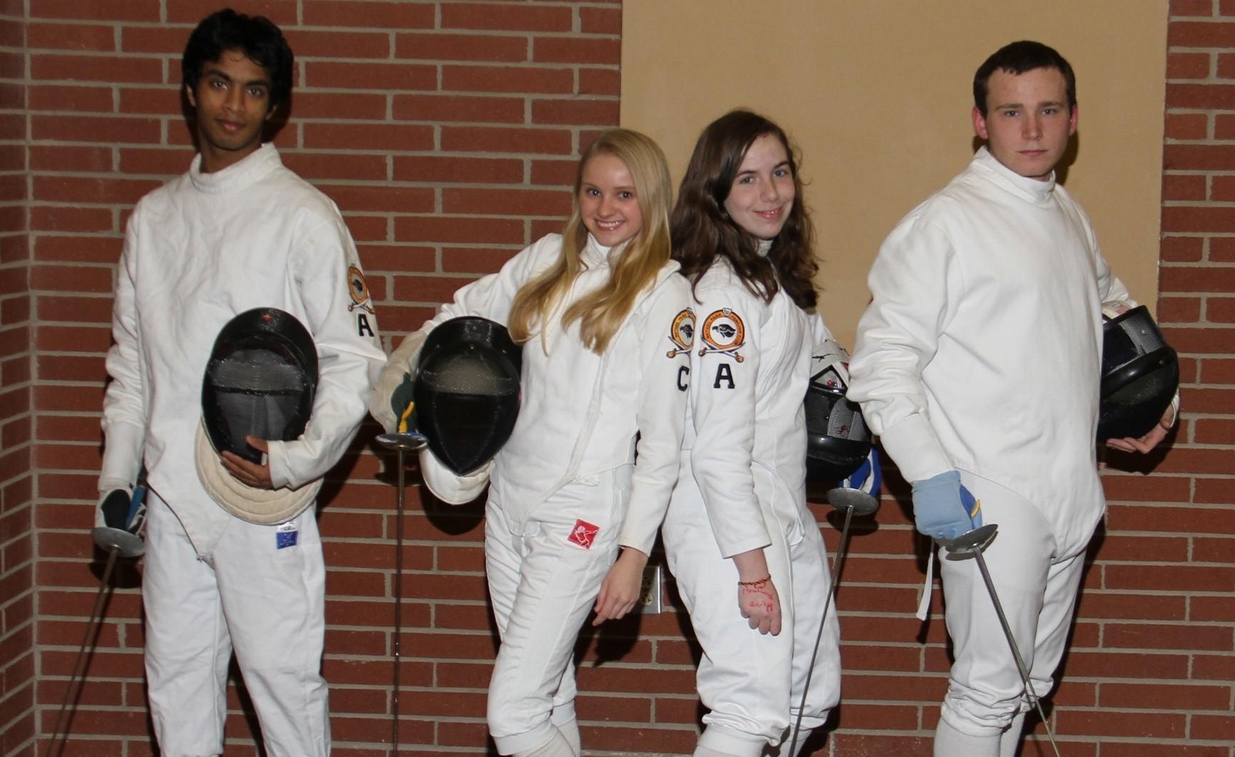 The bethel park high school fencing team hawk eye