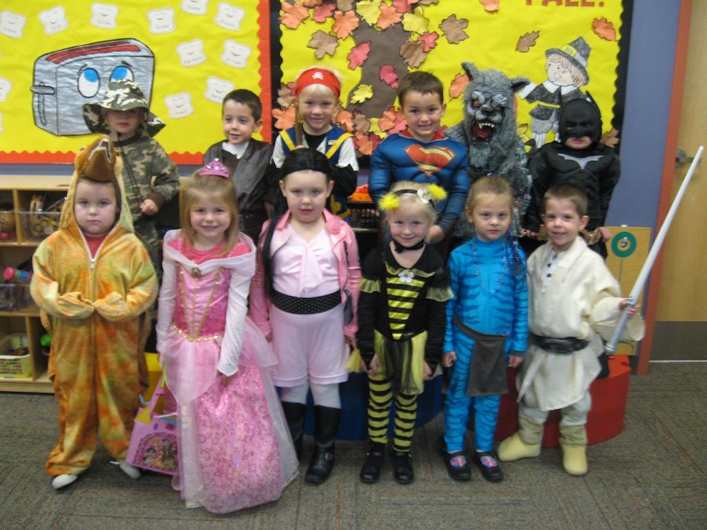 Preschool students trick-or-treat at BPHS