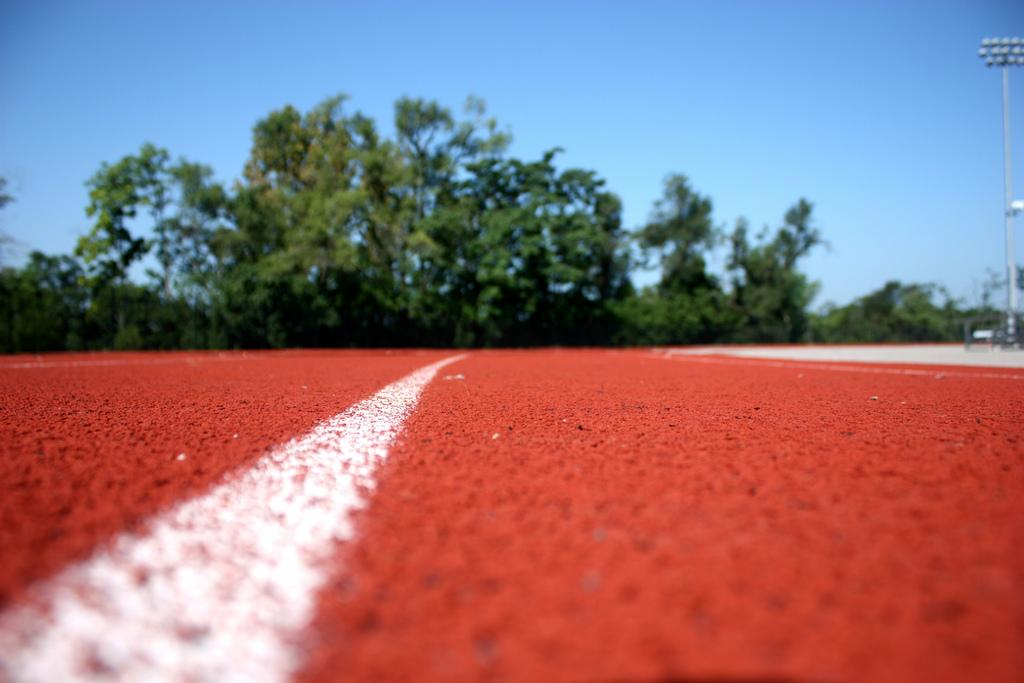 Indoor track athletes start off on the right foot