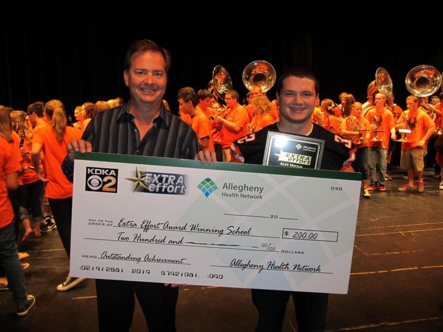 KDKA awards Alex Minton for his extra effort