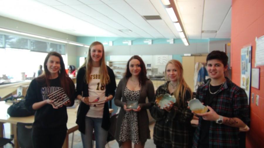 Ceramics 2 class makes soup bowls for Empty Bowls Event