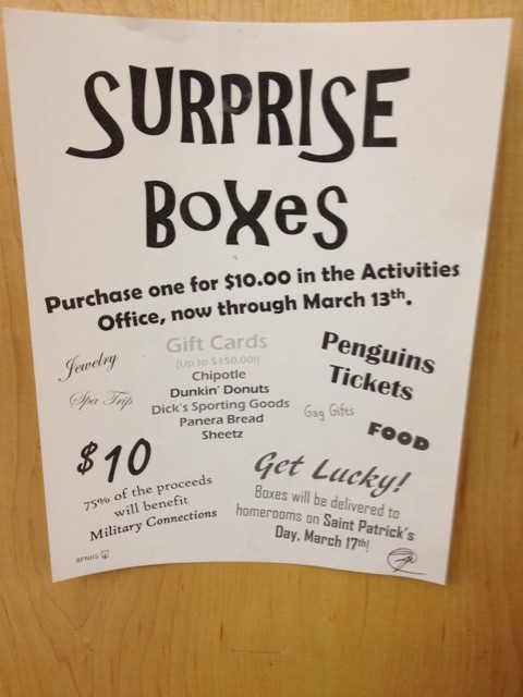 NHS is selling surprise boxes, raising money for Military Connections