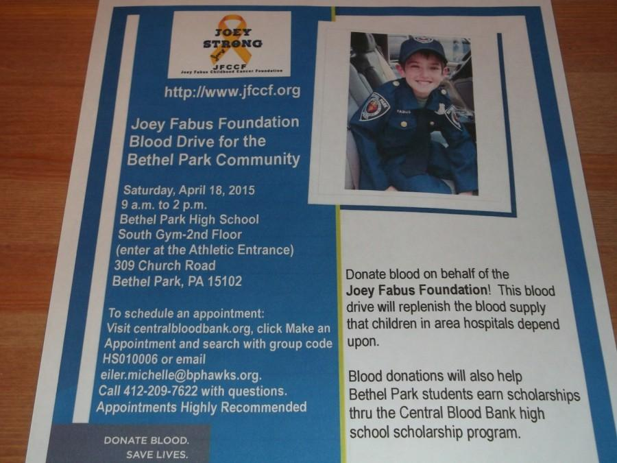 PACS to hold Joey Fabus Blood Drive