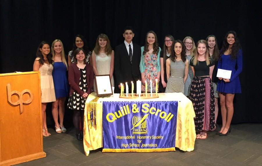 14 student journalists inducted into Quill and Scroll in first ceremony at BPHS in 20 years