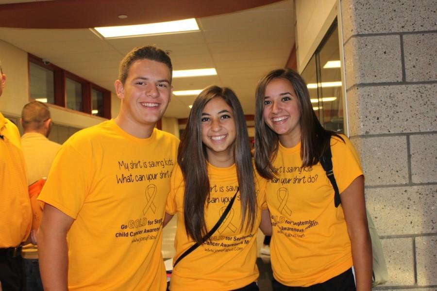BPHS sports gold shirts for childhood cancer awareness