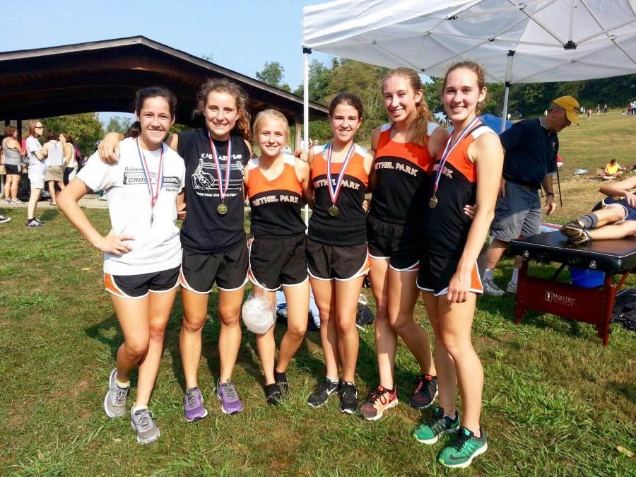 Girls varsity cross country gets the gold at Gateway