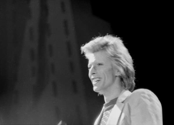 David Bowie performs at the Diamond Dogs Tour at Charlotte Parks Center on July 5, 1974.