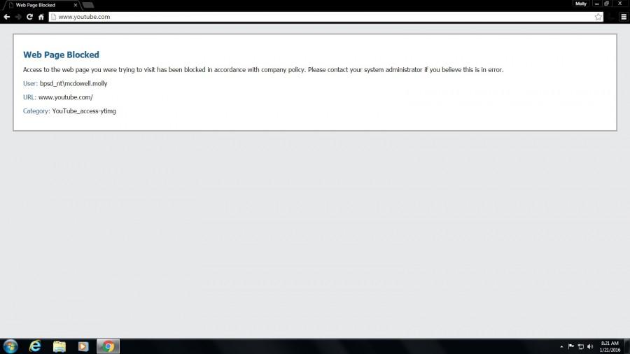 Molly's Musings- Blocked Websites