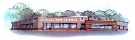 A drawing of the new Spencer Family YMCA.