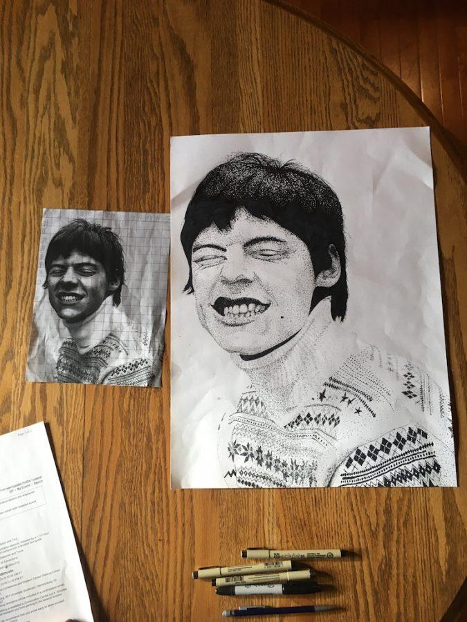 Student Art of the Week: Natalie Coccagno's Harry Styles Portrait