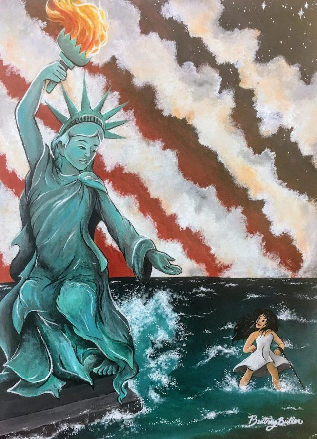 Brittany Butler's 'Choice' features a patriotic theme. It has been entered into a contest sponsored by Congress.