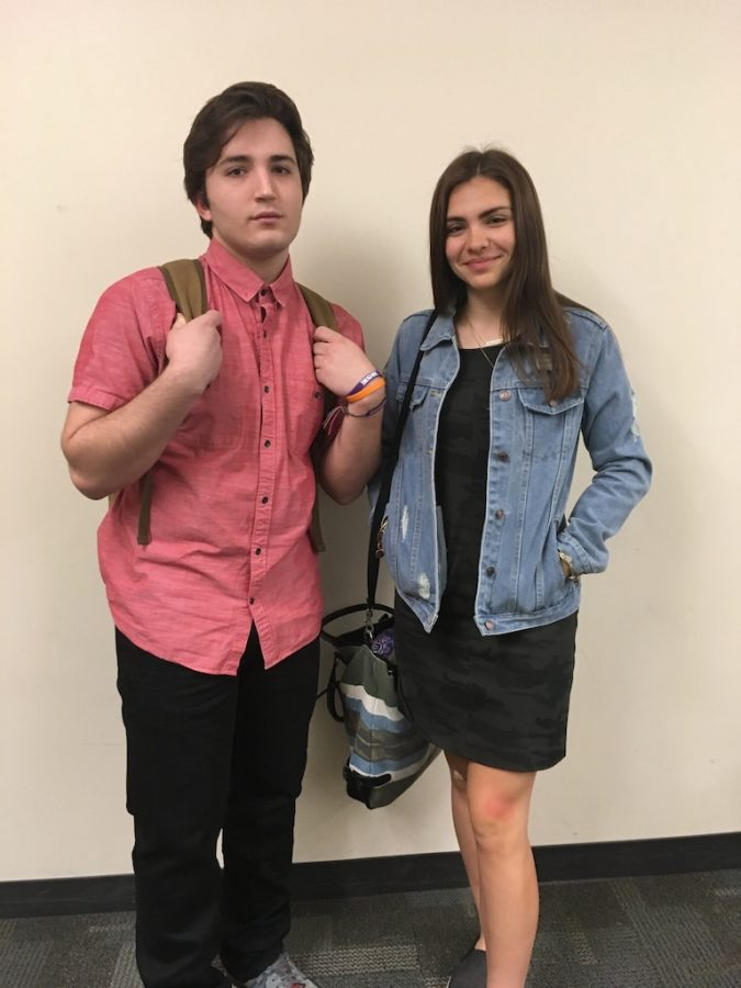 Noah Neal and Alaina Cerro show off their styles.