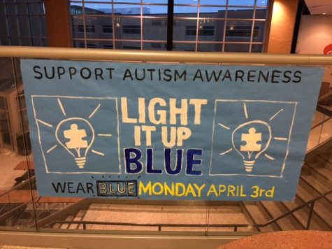 Support autism awareness, wear blue!