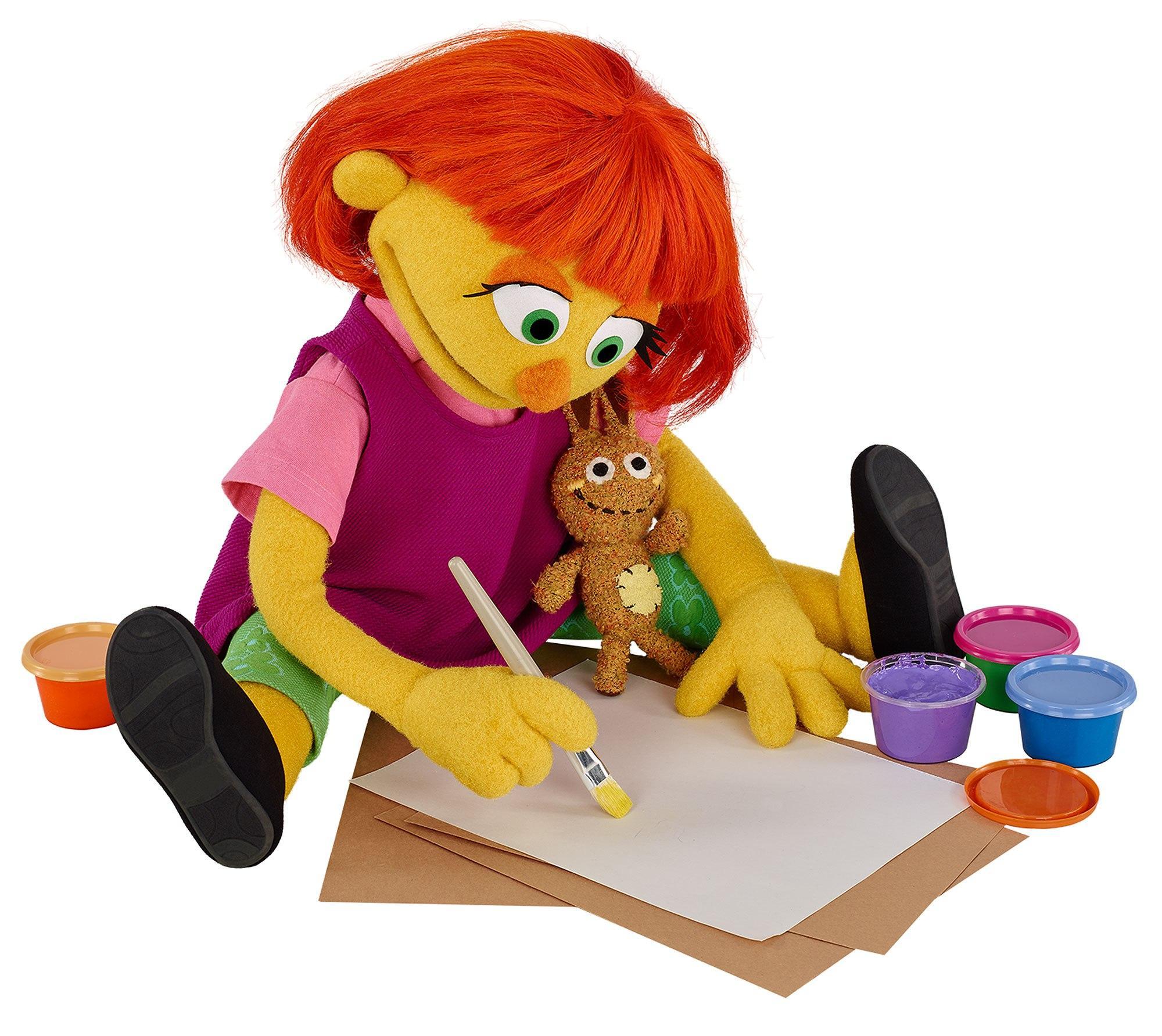 Julia muppet Credit: Sesame Workshop