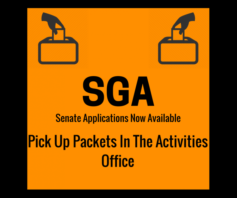 Get your SGA senator application today