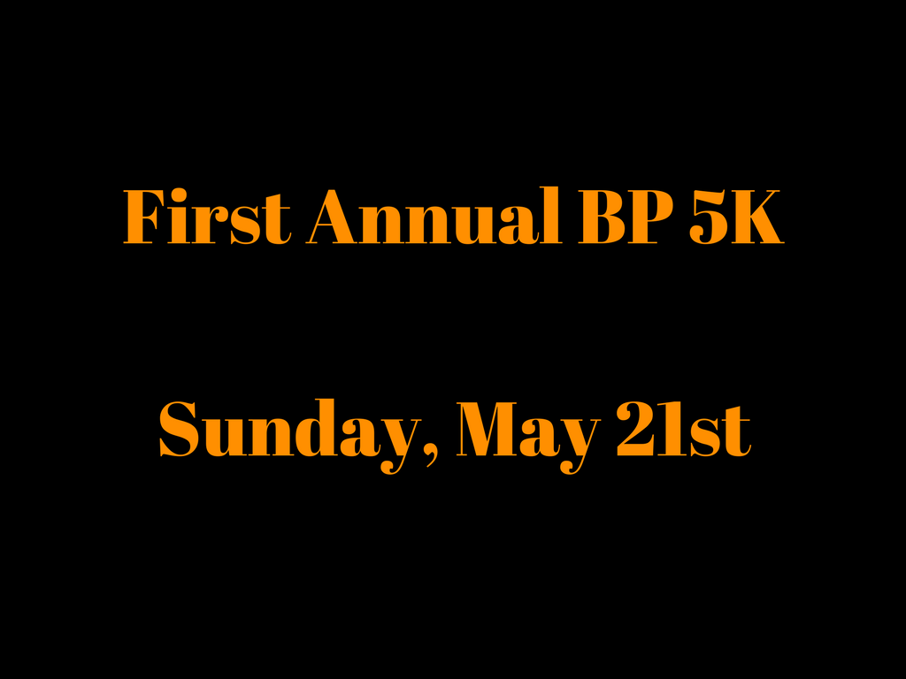 Run the BP 5K, fight CF