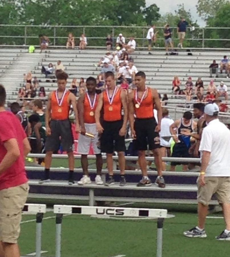 Jehvonn Lewis, Terron Murphy, James Krandel, and Zach Taylor were WPIAL Champs in the 4x100m with a time of 42.64