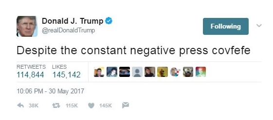 Hawk Eye staff scrambles to determine the meaning of 'covfefe'