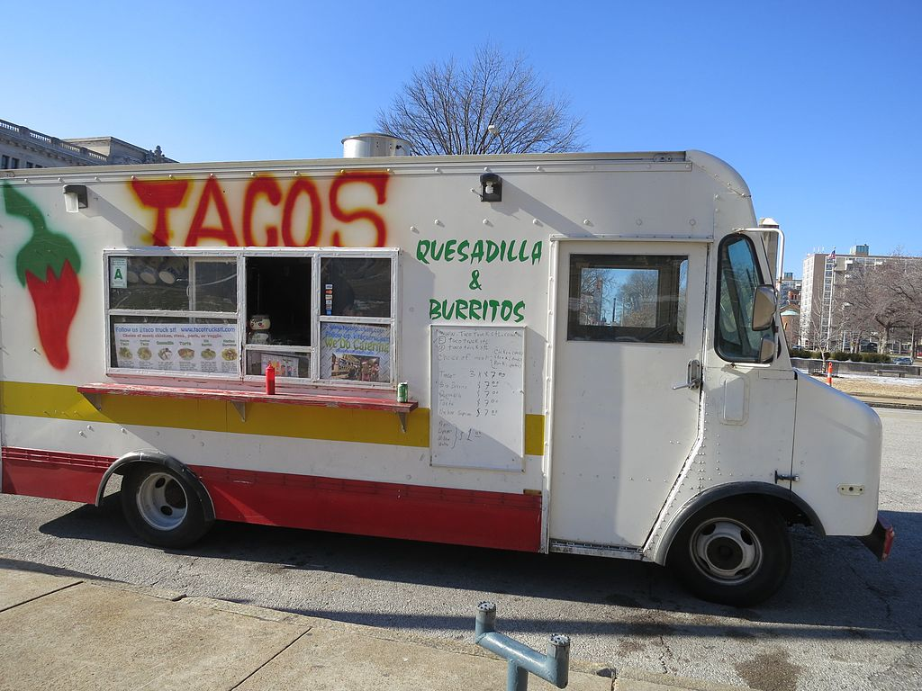 Food trucks like this taco truck in West Downtown, St. Louis, Missouri are showing up in Pittsburgh.