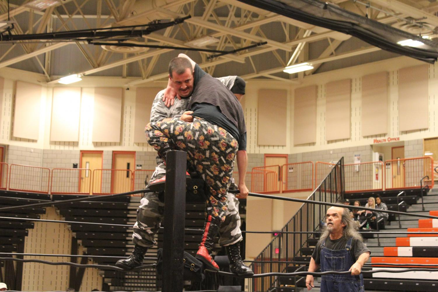 The Sniper prepares to suplex his opponent at The Main Event Saturday, Nov. 18.