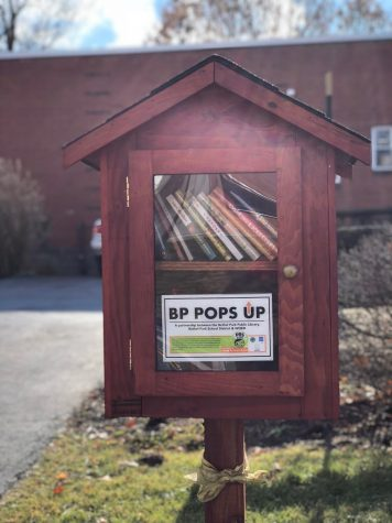 Check out a book at a pop-up library