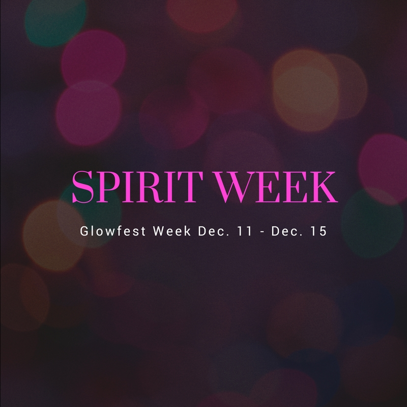 Get in the spirit with Glow Week