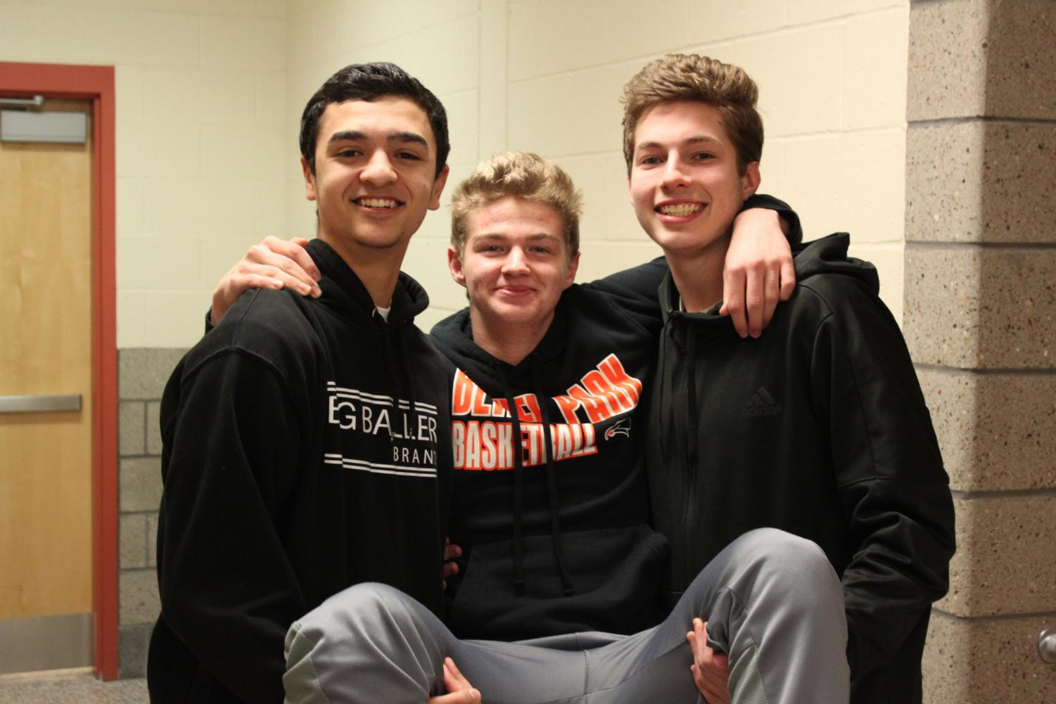 Nick Bomar, Dave Scott, and Jake Nuttridge won the Best Friends award. (Be sure to check out the Goofy Awards section of the yearbook to see photos of all the awardees).