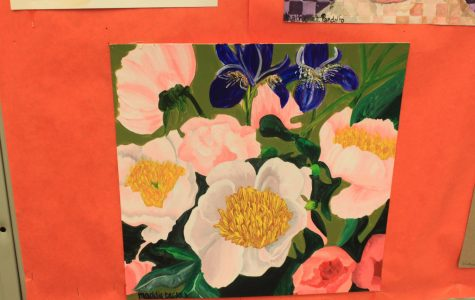 Student Art of the Week: Maddie Becker's acrylic flowers