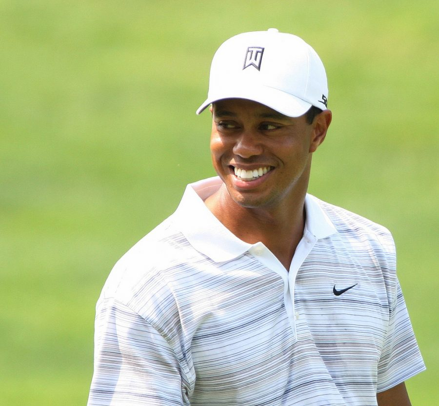 ALL+SMILES%2C+Tiger+Woods+walks+along+the+course+during+the+inaugural+Earl+Woods+Memorial+Pro-Am+Tournament%2C+part+of+the+AT%26T+National+Golf+Tournament+at+the+Congressional+Country+Club+in+Bethesda%2C+Md.+on+July+4%2C+2007.