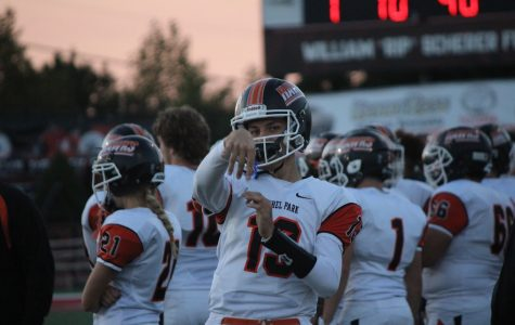 QB1 Anthony Chiccitt warms up before leading the offense on Friday night