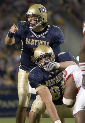 21 October 2006: Pitt quarterback Tyler Palko and center Joe Villani point at defenders. The Rutgers Scarlet Knights defeated the Pitt Panthers 20-10 on October 21, 2006 at Heinz Field, Pittsburgh, Pennsylvania.