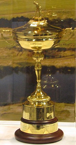 SHINING BRIGHT, the Ryder Cup awaits its bearer at the 2008 PGA Show.