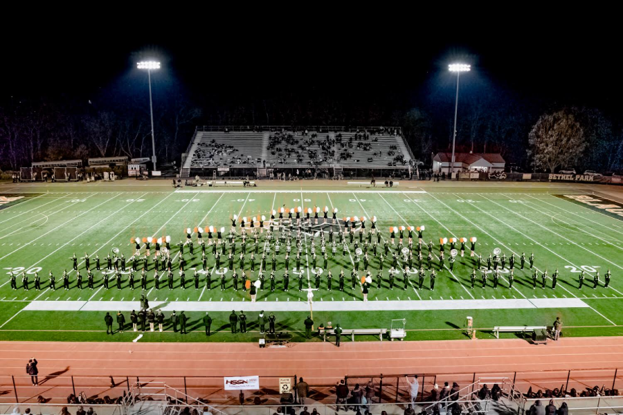 COVERING+DOWN%2C+the+Bethel+Park+Marching+Band+performs+some+songs+during+their+last+home+game+performance+of+the+season.