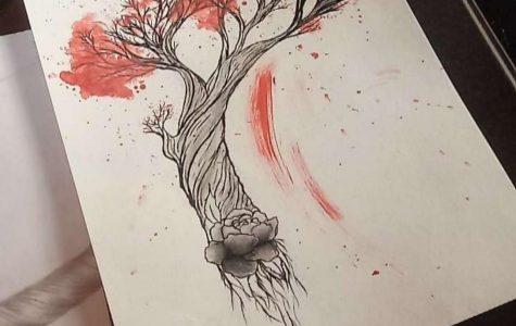 Student Art of the Week: LaNora Barber draws Trash Polka style tattoo