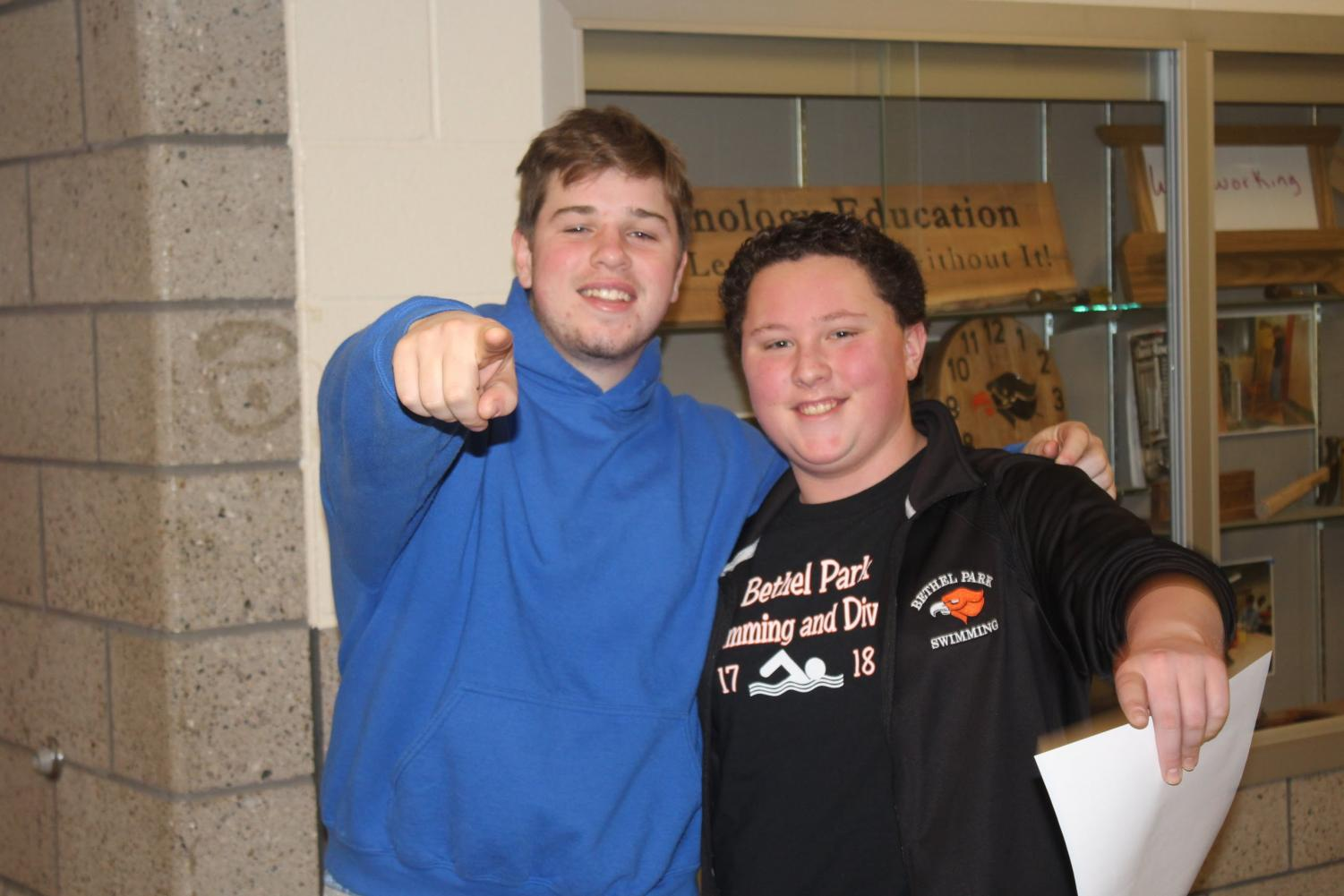 Senior Jake Thimons and junior Mark Vighetti want you to get involved at BPHS.