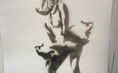 Mia Adam's Marilyn MONROE ELEPHANT made in Mr.Wallisch's Art 2 class.