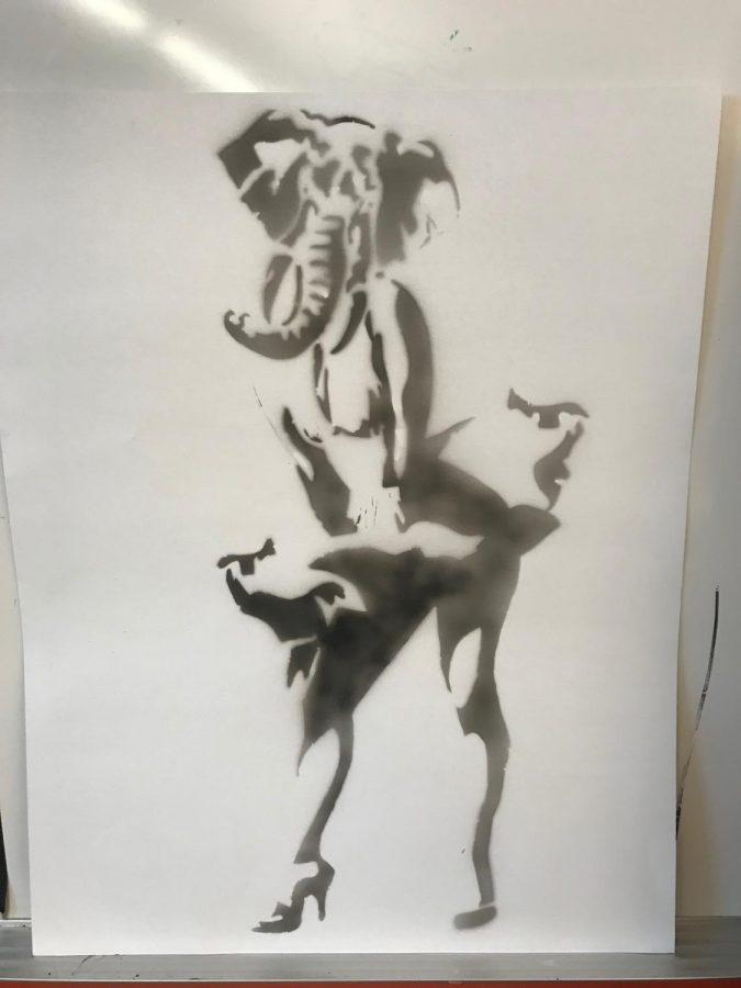 Mia+Adam%27s+Marilyn+MONROE+ELEPHANT+made+in+Mr.Wallisch%27s+Art+2+class.