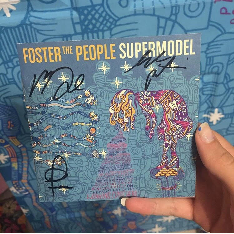 Autumn Gorman recreates this SUPERMODEL album cover by Foster the People.