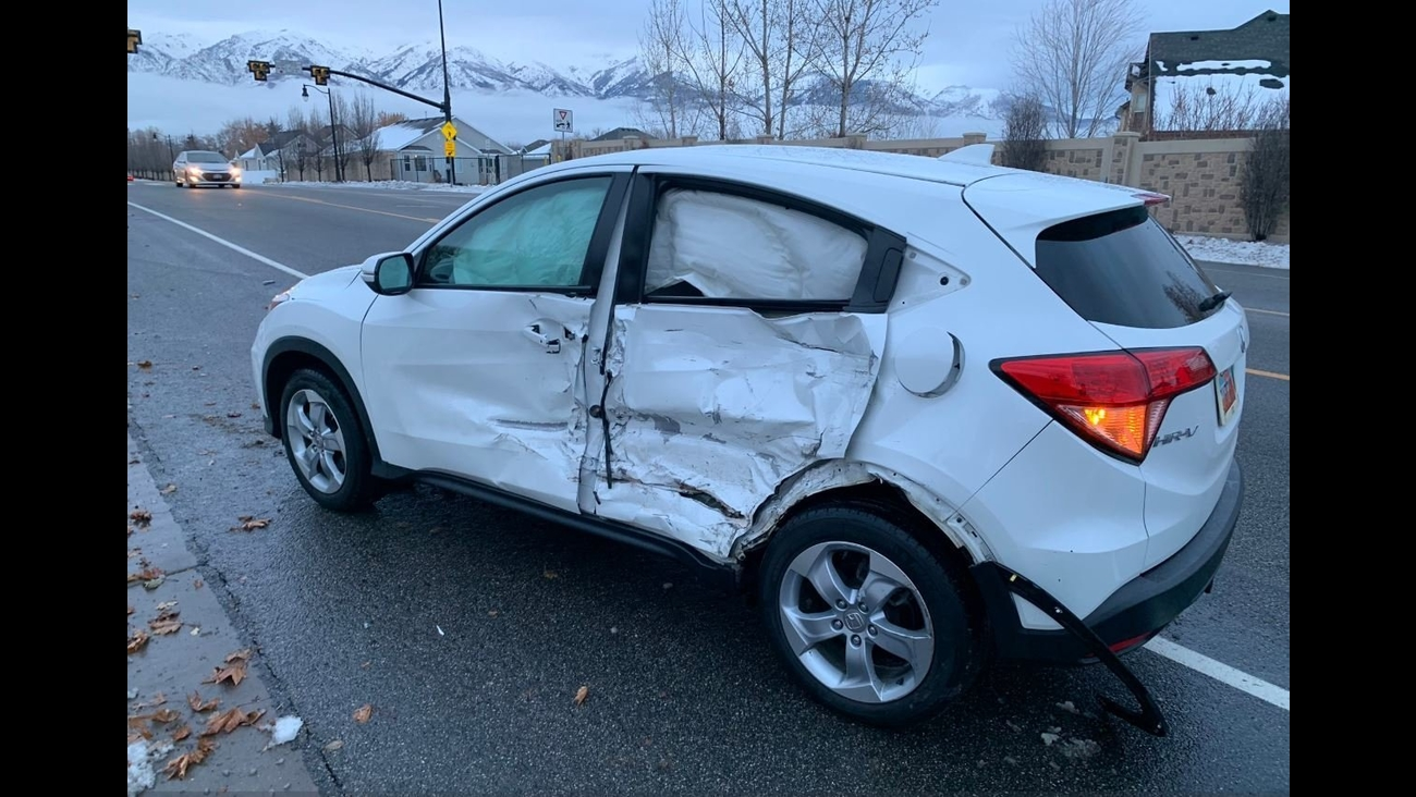 **Embargo: Salt Lake City, Utah**  Police say a teenager participating in the latest viral challenge is responsible for a crash on a parkway and will face reckless driving charges.