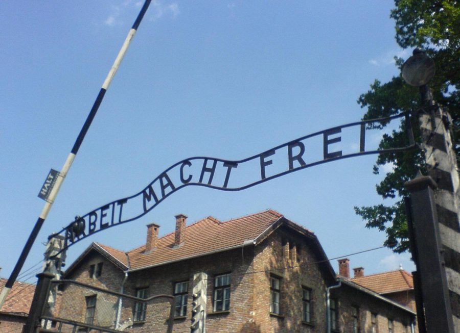 The entrance of the Auschwitz Museum and Memorial.