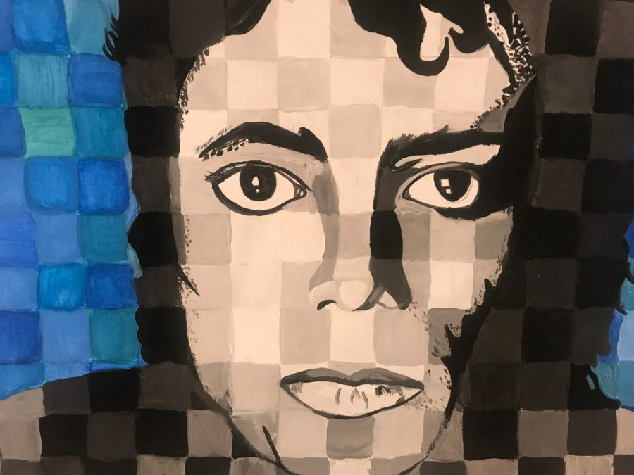 Maya%27s+CHECKERED+Michael+Jackson+painting