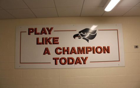 This sign reminds student-athletes to give it their best every day, in the classroom and on the court, field, etc.