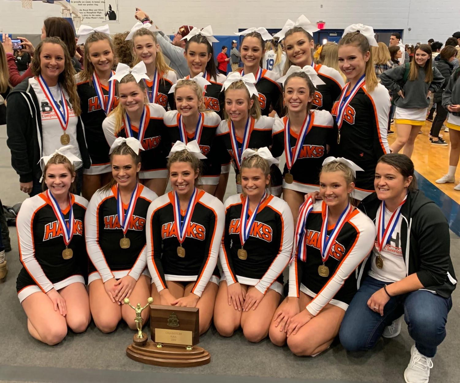 The Bethel Park competitive cheer squad brings home their second WPIAL title in the past two years.