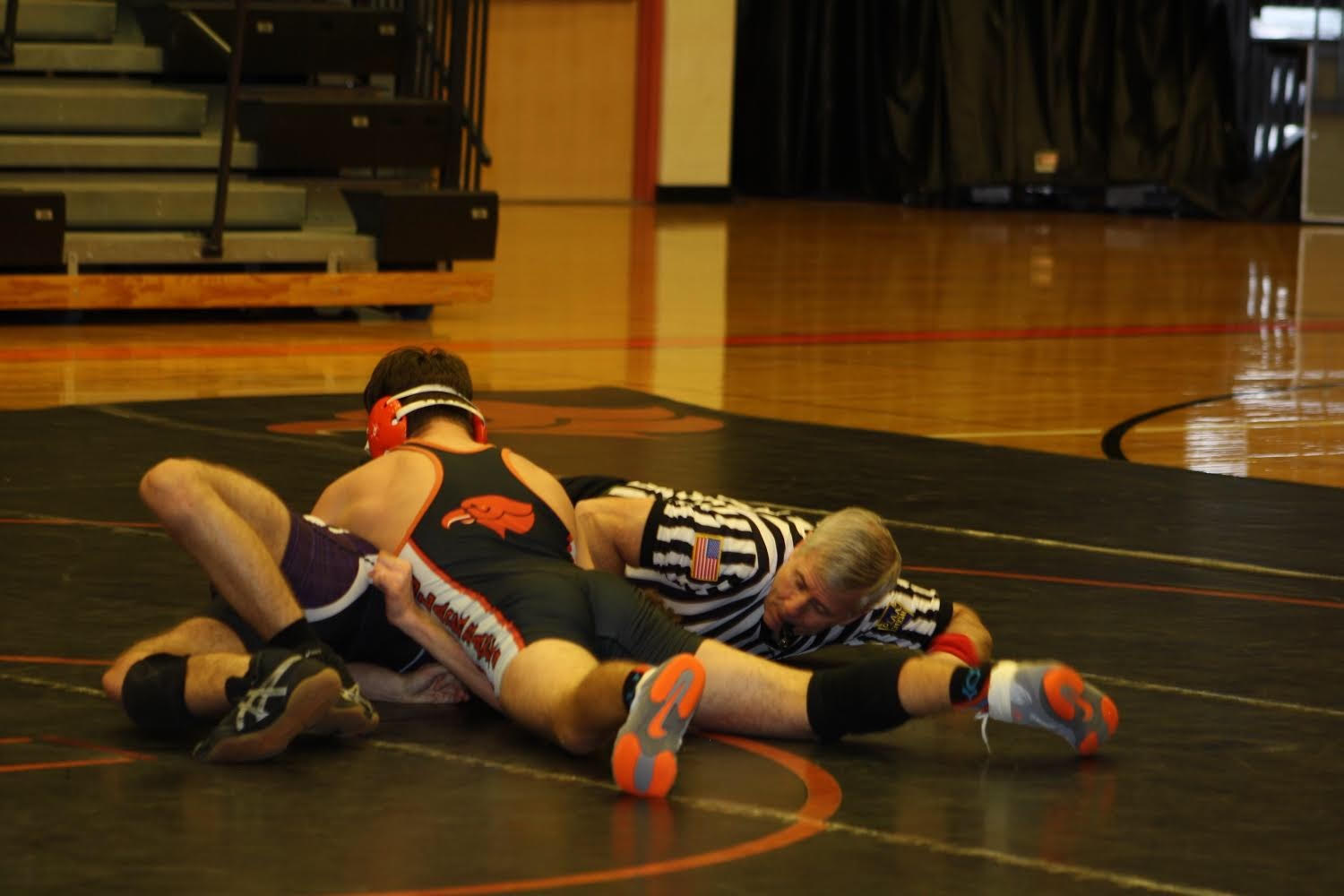 Junior Parker Loera pins his opponent from Baldwin on Wednesday, Jan. 2