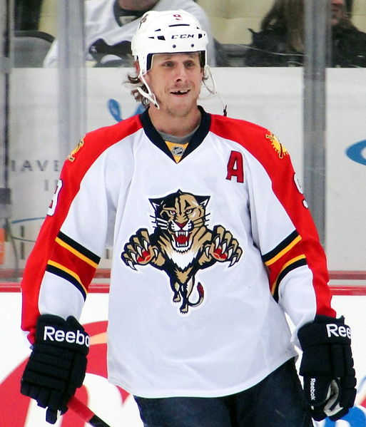 Florida Panthers forward Stephen Weiss skates against the Pittsburgh Penguins, March 9, 2012 at Consol Energy Center in Pittsburgh, PA.