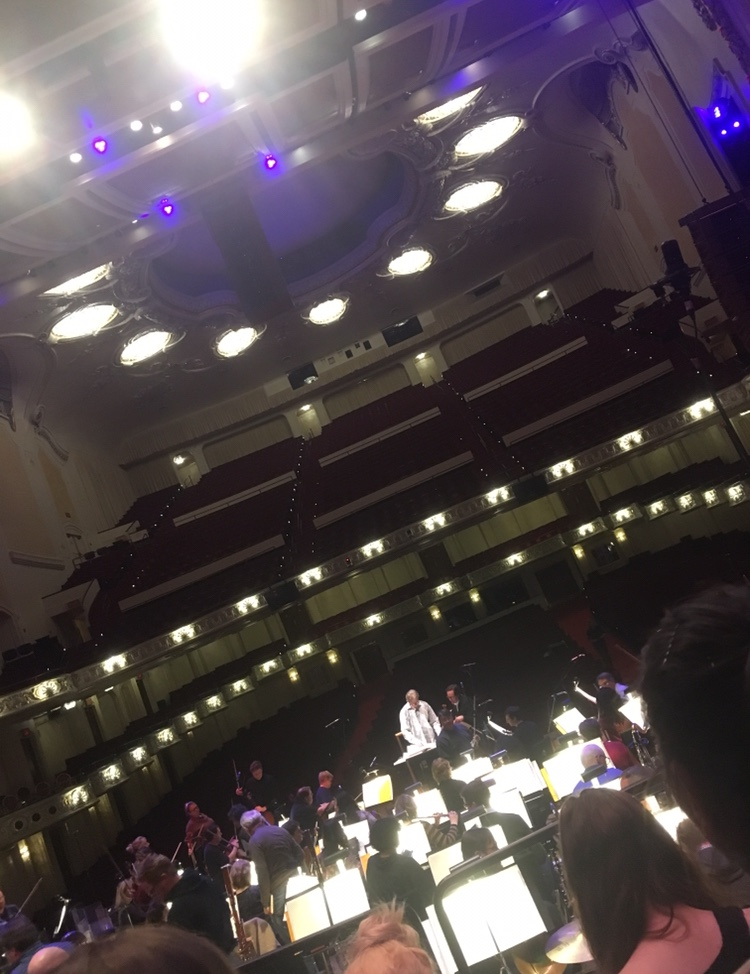 A view from the stage at Heinz Hall