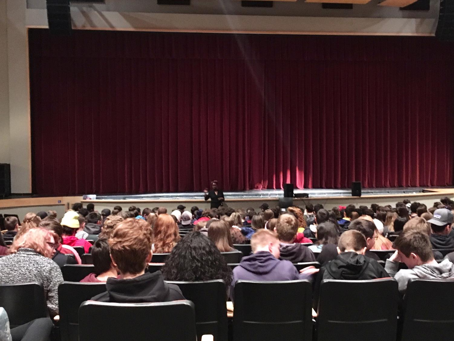 Diane Ford speaks to sophomores on Monday, Feb. 11 about changing the culture at BPHS.