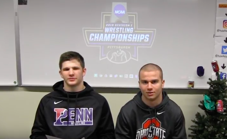 Luke+Montgomery+and+Parker+Loera+pick+their+NCAA+Division+1+Wrestling+Champs.