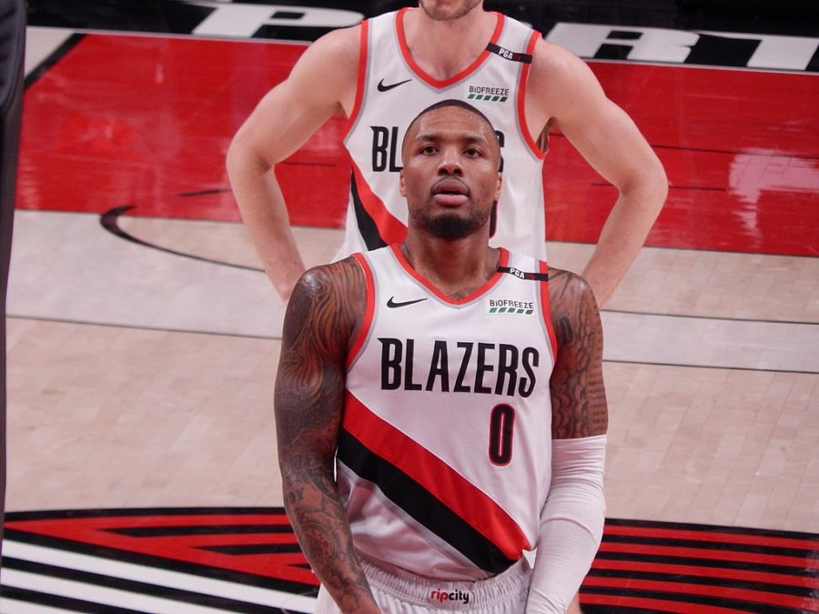 Damian Lillard #0 of the Portland Trail Blazers against the Cleveland Cavaliers on January 16, 2019 at Moda Center in Portland, Oregon.